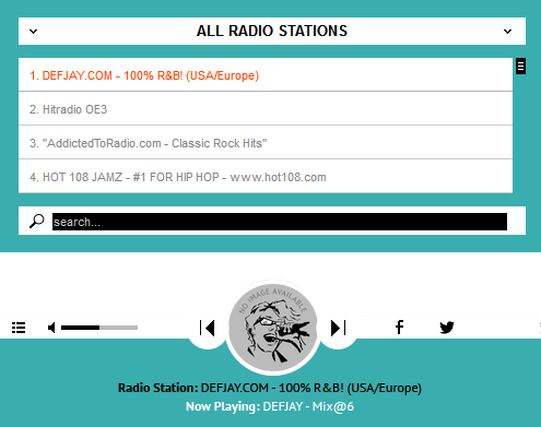 Sticky Radio Player - Full Width Shoutcast and Icecast HTML5